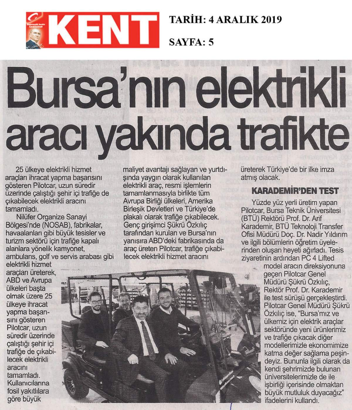 Pilotcar ve Bursa Teknik Üniversitesi İşbirliği